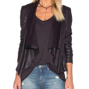 BLANK NYC Vegan Leather Draped Jacket